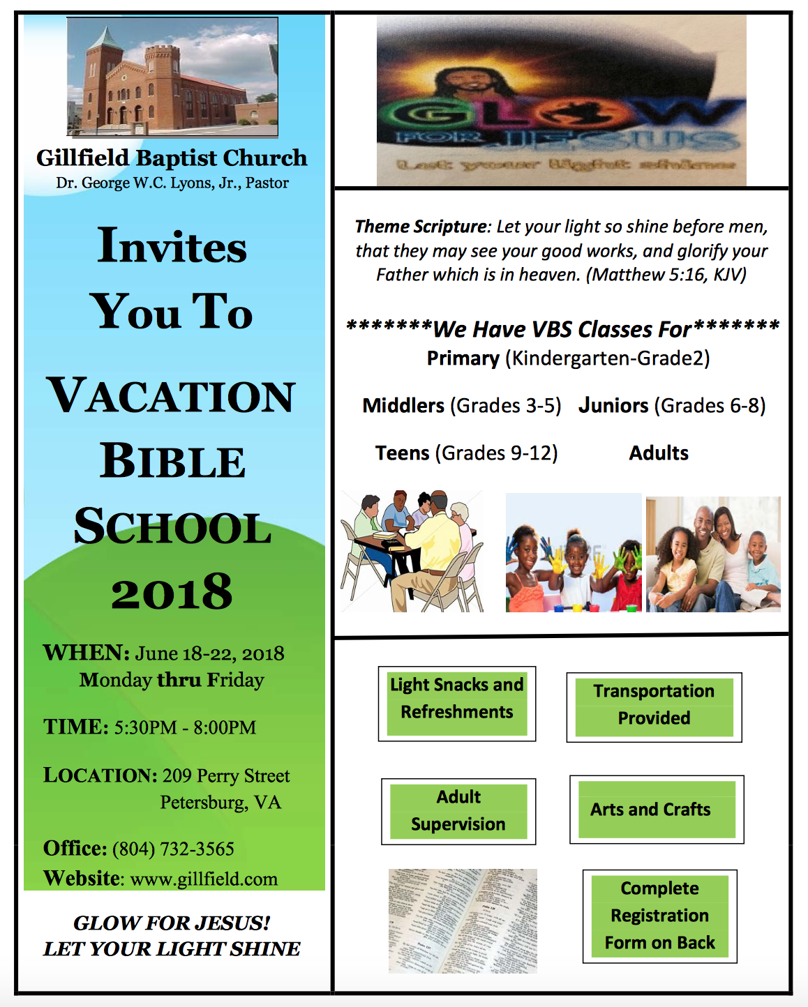 Gillfield Baptist Church - Vacation Bible School