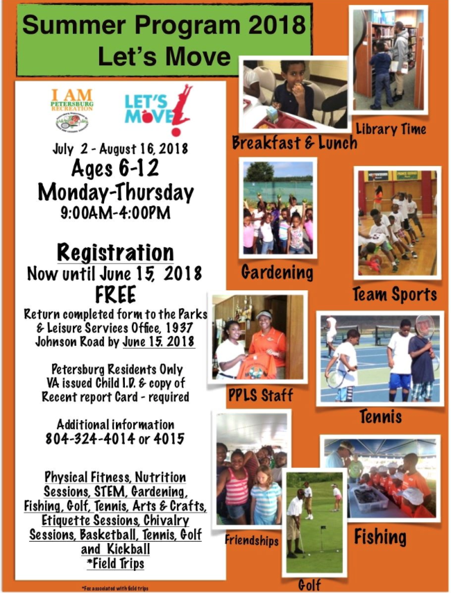 Summer Recreation Program 2018 - Let's Move